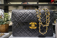 A vintage Chanel handbag, selling for over $6000, in the only brick and mortar store of the Gap's Piperlime online brand in the Soho neighborhood of New York on Saturday, January 24, 2015. The Gap announced that it is pulling the plug on the Piperlime brand, which never reached the company's expectation by the end of the first quarter of 2015.(© Richard B. Levine)