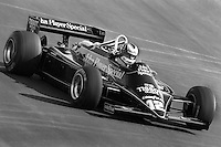 LAS VEGAS, NV - OCTOBER 17: Nigel Mansell drives the Lotus 87 R5/Ford Cosworth DFV during the Caesar's Palace Grand Prix FIA Formula One World Championship race on the temporary circuit in Las Vegas, Nevada, on October 17, 1981.
