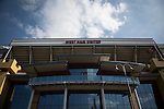 West Ham United 2 Crystal Palace 2, 02/04/2016. Boleyn Ground, Premier League. The main facade of the Betway Stand at the Boleyn Ground, pictured before West Ham United hosted Crystal Palace in a Barclays Premier League match. The Boleyn Ground at Upton Park was the club's home ground from 1904 until the end of the 2015-16 season when they moved into the Olympic Stadium, built for the 2012 London games, at nearby Stratford. The match ended in a 2-2 draw, watched by a near-capacity crowd of 34,857. Photo by Colin McPherson.