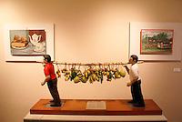 Contemporary folk art in the Museo de Arte Popular or Museum of Popular Art in San Salvador, El Salvador