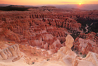 730750023 sunrise lights up the hoodoos in the silent city seen from sunset point in bryce canyon national park utah