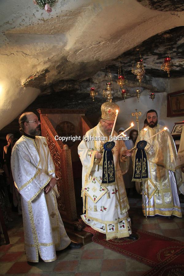 Israel, Jerusalem, St. Onuphrius celebration at at the Greek Orthodox St. Onuphrius Monastery