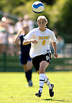 2 September 2007: University of Vermont Catamounts' Callie Ewald, a Senior from Windsor, VT, in action against the George Washington University Colonials at Historic Centennial Field in Burlington, Vermont. The Colonials rallied to defeat the Catamounts 2-1 in overtime during the TD Banknorth Soccer Classic...Mandatory Photo Credit: Ed Wolfstein Photo