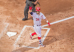 6 April 2015: Washington Nationals outfielder Bryce Harper crosses the plate after hitting a solo home run in the 4th inning of the Home Opening Game against the New York Mets at Nationals Park in Washington, DC. The Mets rallied to defeat the Nationals 3-1 in their first meeting of the 2015 MLB season. Mandatory Credit: Ed Wolfstein Photo *** RAW (NEF) Image File Available ***