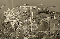 historical aerial photograph Port Chicago, Contra County, California 1948