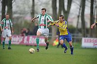 VOETBAL: DRONRIJP: 06-04-2014, Sportcomplex Schatzenburg, VV Dronrijp - SC Franeker, uitslag 2- 2, ©foto Martin de Jong