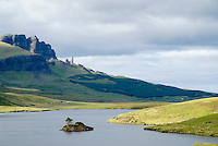 Old Man of Storr and Loch, Isle of Skye
