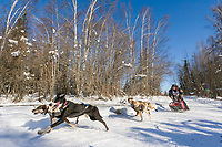 Musher Andy Huetten, 2007 Open North American Championship sled dog race (the world's premiere sled dog sprint race) is held annually in Fairbanks, Alaska.