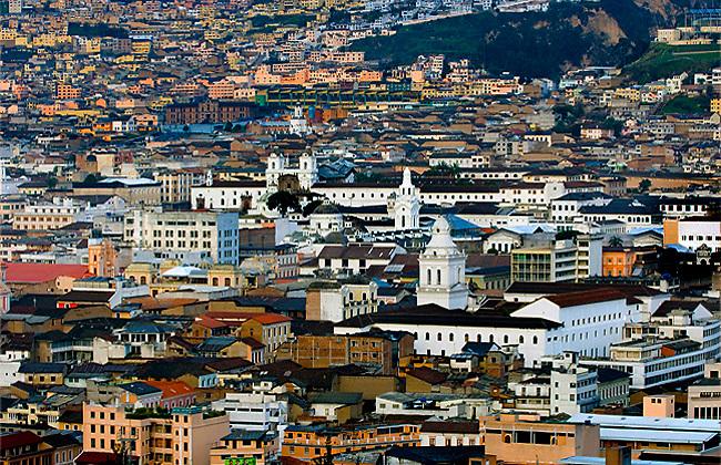 Historic Colonial Center and hillside neighborhoods of Quito, Ecuador, a UNESCO World Heritage Cultural Site.