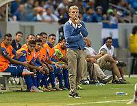 CARSON, CA - July 8, 2015: The 2015 Gold Cup match El Salvador vs Canada at the StubHub Center . Final score, El Salvador 0, Canada 0.