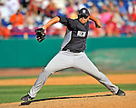 12 March 2011: New York Yankees' pitcher Daniel Turpen on the mound during a Spring Training game against the Washington Nationals at Space Coast Stadium in Viera, Florida. The Nationals edged out the Yankees 6-5 in Grapefruit League action. Mandatory Credit: Ed Wolfstein Photo