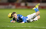 Aberdeen v St Johnstone&hellip;10.12.16     Pittodrie    SPFL<br />David Wotherspoon goes down after being fouled&hellip;his resulting free kick hit the post<br />Picture by Graeme Hart.<br />Copyright Perthshire Picture Agency<br />Tel: 01738 623350  Mobile: 07990 594431
