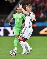 FUSSBALL WM 2014                ACHTELFINALE Deutschland - Algerien               30.06.2014 Toni Kroos (Deutschland) am Ball