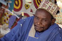 Baleyara, Niger, West Africa.  Nigerien Muslim Market Trader, Alhaji Garba.  The title Alhaji tells us that this man has made the pilgrimage to Mecca.