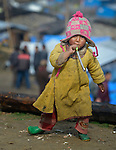 A child in the village of Gatlang, in the Rasuwa District of Nepal near the country's border with Tibet.