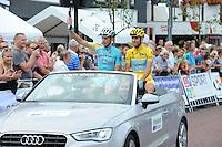 WIELRENNEN: SURHUISTERVEEN: 05-08-2014, Profronde Surhuisterveen, Lieuwe Westra en Vincenzo Nibali, ©foto Martin de Jong