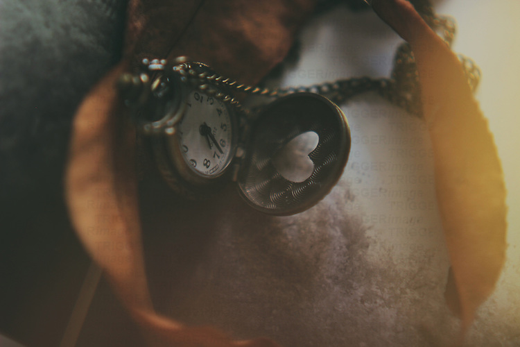 close up shot of a pocket watch in brown soft hues