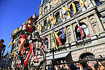 Martin Elmiger (SUI) BMC Racing Team on stage at sign on before the 101st edition of the Tour of Flanders 2017 running 261km from Antwerp to Oudenaarde, Flanders, Belgium. 26th March 2017.<br /> Picture: Eoin Clarke | Cyclefile<br /> <br /> <br /> All photos usage must carry mandatory copyright credit (&copy; Cyclefile | Eoin Clarke)