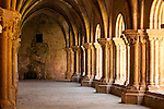 The 13th century cloister in the Old Cathedral in Coimbra, Portugal.