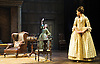 She Stoops to Conquer<br /> by Oliver Goldsmith <br /> directed by James Lloyd<br /> at the Olivier Theatre, Southbank, London, Great Britain <br /> 30th January 2012<br /> <br /> Cush Jumbo (as Constance Neville)<br /> Sophie Thompson (as Mrs Hardcastle)<br /> <br /> <br /> <br /> Photograph by Elliott Franks