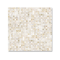 Studio Line, 1 cm grid mosaic shown in polished cloud nine
