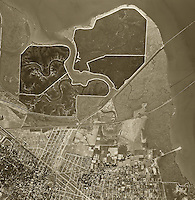 historical aerial photograph Menlo Park, California, 1948