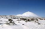 Snow capped Mount Teide, Tenerife, Canary Islands.