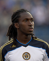 Philadelphia Union midfielder Keon Daniel (17). In a Major League Soccer (MLS) match, the Philadelphia Union defeated the New England Revolution, 3-0, at Gillette Stadium on July 17, 2011.
