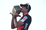 Greg Van Avermaet (BEL) BMC Racing wins the 115th edition of the Paris-Roubaix 2017 race running 257km Compiegne to Roubaix, France. 9th April 2017.<br /> Picture: ASO/P.Ballet | Cyclefile<br /> <br /> <br /> All photos usage must carry mandatory copyright credit (&copy; Cyclefile | ASO/P.Ballet)