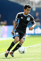 San Jose midfileder Rafael Baca  (30) in action... Sporting Kansas City defetaed San Jose Earthquakes 2-1 at LIVESTRONG Sporting Park, Kansas City, Kansas.