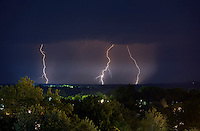 Storms bring rain and lightning to Charlottesville, Virginia. .