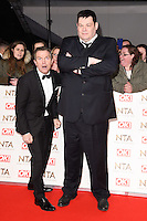 Bradley Walsh &amp; Mark Labbett at the National TV Awards 2017 held at the O2 Arena, Greenwich, London. <br /> 25th January  2017<br /> Picture: Steve Vas/Featureflash/SilverHub 0208 004 5359 sales@silverhubmedia.com