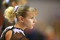 Oct 17, 2006; Aarhus, Denmark; Portrait is of Alina Kozich of Ukraine preparing for balance beam during women's gymnastics team competition at 2006 World Championships Artistic Gymnastics. Photo by Tom Theobald