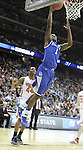 Darius Miller dunks the ball in the Sweet 16 of the 2011 NCAA Basketball Tournament, at the Prudential Center, in Newark, NJ, on Saturday, March 25, 2011.  Photo by Latara Appleby | Staff