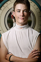 Jockey Channing Hill poses for the photographer at the race track in Saratoga Springs, NY, USA, 14 August 2006.