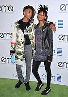 BURBANK, CA. October 22, 2016: Jaden Smith &amp; Willow Smith at the 26th Annual Environmental Media Awards at Warner Bros. Studios, Burbank.<br /> Picture: Paul Smith/Featureflash/SilverHub 0208 004 5359/ 07711 972644 Editors@silverhubmedia.com