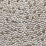 Ivory pebbles texture background. Pebblestone interior and exterior stone finish