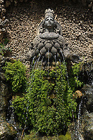 Fontana dell'Abbondanza.Fountain of Abundance..Villa d'Este di Tivoli, patrimonio mondiale dell' UNESCO..Villa d'Este is included in the UNESCO world heritage list.