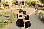 RIOULT modern dancers perform in the sculpture garden at Kykuit, the Rockefeller Estate, Pocantico Hills, New York