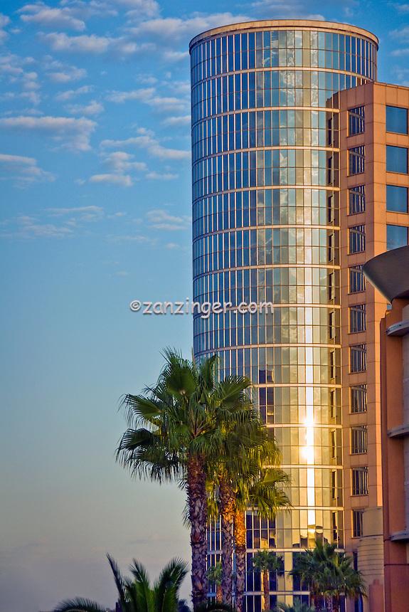 Bridge, Howard Hughes Center, Glass Steel, Building, Los Angeles, CA,