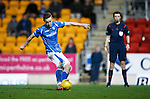 St Johnstone v Hearts..19.12.15  SPFL  McDiarmid Park, Perth<br /> Steven MacLean blasts his penalty over the bar<br /> Picture by Graeme Hart.<br /> Copyright Perthshire Picture Agency<br /> Tel: 01738 623350  Mobile: 07990 594431