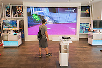 """The Nintendo New York store in Rockefeller Center in New York on Thursday, September 8, 2016. Nintendo shares rose 29% on the announcement that the game company will be bringing it Mario franchise to the iPhone, in the form of a new game, """"Super Mario Run"""", and will be releasing a version of """"Pokemon Go"""" for the Apple Watch.(© Richard B. Levine)"""