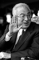 Roma   Festa della Polizia   1986.Francesco Cossiga Presidente della Repubblica Italiana.