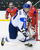 Iiro Pakarinen (Finland - 10) - Russia defeated Finland 4-0 at the Urban Plains Center in Fargo, North Dakota, on Friday, April 17, 2009, in their semi-final match during the 2009 World Under 18 Championship.