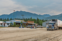Coldfoot camp truck stop along the James Dalton Highway, arctic, Alaska.