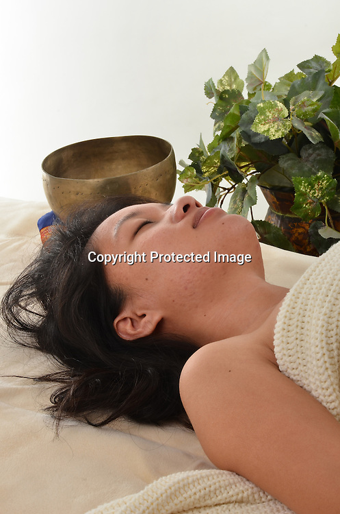 Stock photos of Asian Woman on Massage Table