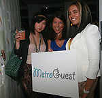 GreaseandGlamour.com's Jinna Yamj,Whitegate PR's Dana Humphrey and MetroGuest's Founder and General Manager Gladys Valente attend the MetroGuest Website Launch Party Event Hosted by So So, Incredibly Beautiful Featuring Artwork by Carlos Charlie Perez and Julio Cesar Gonzalez at The Sky House, NY 5/4/2011