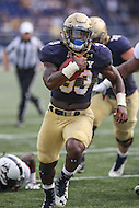 Annapolis, MD - September 9, 2016: Navy Midshipmen fullback Chris High (33) scores a touchdown during game between UConn and Navy at  Navy-Marine Corps Memorial Stadium in Annapolis, MD. September 9, 2016.  (Photo by Elliott Brown/Media Images International)