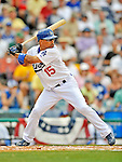 12 March 2008: Los Angeles Dodgers' infielder Rafael Furcal at bat during a Spring Training game against the Washington Nationals at Holman Stadium, in Vero Beach, Florida. The Nationals defeated the Dodgers 10-4 at the historic Dodgertown ballpark. 2008 marks the final season of Spring Training at Dodgertown for the Dodgers, as the team will move to new training facilities in Arizona starting in 2009 after 60 years in Florida...Mandatory Photo Credit: Ed Wolfstein Photo
