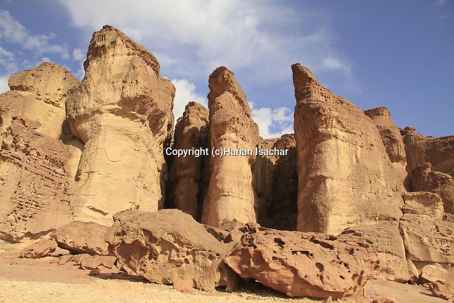 Arava, Solomon Pillars in Timna Valley